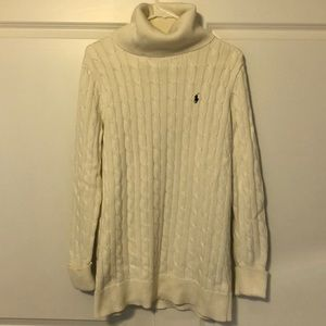 Ralph Lauren Cable Knit Turtleneck Cream Sweater